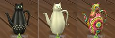 cat shaped coffeepot