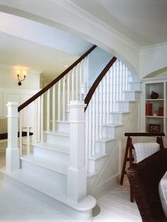Wonderful Coastal House Renovation Designs : Charming Traditional Entry With Staircase Clever Coastal Home Renovation