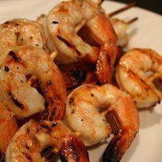 Brochettes de crevettes aux agrumes