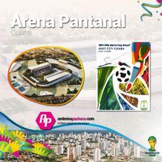 #Brasil2014 || Conoce el Arena Pantanal  + Poster + Ciudad + Partidos que albergará  >>http://goo.gl/7ebTbm