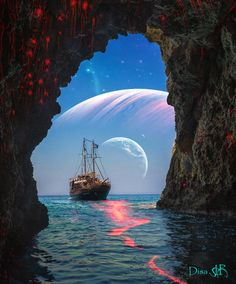 Alien Worlds, Collage Artists, Surreal Art, Digital Collage, Art Day, Opera House, Nature, Artwork, Travel