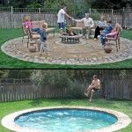 Creative Hidden Swimming Pool. Can be raised for toddler pool or lowered for adults... Gotta watch video to understand