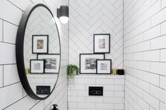 SPOILER: (in case you didn't know The Block is on tonight!) This is WC. What did you think of the tiles? Shop the look at The Block Shop now The Block 2016, Cozy Backyard, The Tile Shop, Powder Room, Tiles, Challenges, Mirror, Tile Ideas, Furniture