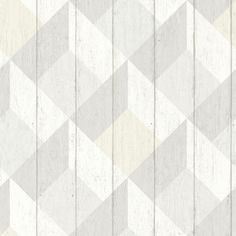Geometric Wood Panelling Neutral wallpaper by Albany
