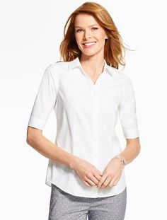 The Perfect Elbow-Sleeve Shirt - Talbots