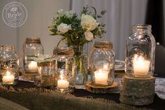 Rose gold decor wedding decor metallic mason jars copper rustic wedding lights decoration ideas using mason jars simply add a string or twine to get this look junglespirit Image collections