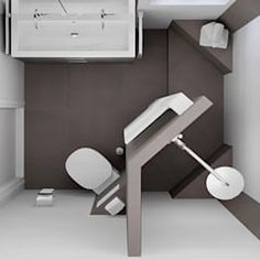 Top view of bathroom design for the small bathroom: Modern bathroom by Sani Construction Tiny Bathrooms, Upstairs Bathrooms, Amazing Bathrooms, Serene Bathroom, Modern Bathroom, Small Bathroom, Lawn Furniture Cushions, Upholstered Furniture, Bathroom Layout Plans