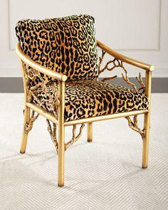HB4C3 John-Richard Collection Leopard Branch Chair