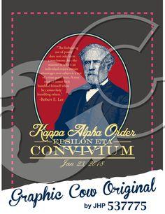 Convivium Robert E Lee Kappa Alpha Order Kappa Alpha Order, Robert E Lee, Rush Shirts, Man Of Honour, Feelings