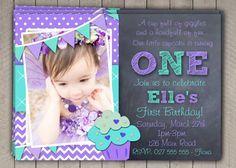 First Birthday Invitation Printable Download 1st Birthday Invitation Invites…