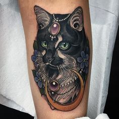 """https://www.instagram.com/opale_sasori/ (this one is not mine) #illustration #neotraditionel #neotraditional #neo #traditionel #traditional #draw #drawing #tattoo #ink #tattooed #inked #sketch #sketches #flowers #animals #ink #tat #tats #neotrad #tattooartist #tattoos (@mermaidsketches) sur Instagram : """"Monsieur the cat from last Wednesday :)"""""""