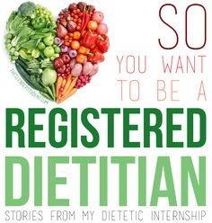 Reflections from the road to becoming a registered dietitian! | Gotta read this for my internship!