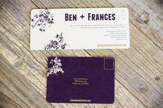 PRINTABLE Wedding Invitation  4x9 Purple by WovenEventCompany, $40.00
