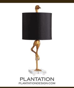Bleecker collection heron crane table lamp 35 h collection canard table lamp aloadofball Image collections