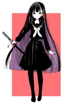 Manga Anime, Anime Oc, Dark Anime, Manga Girl, Kawaii Anime Girl, Anime Art Girl, Anime Girls, Female Characters, Anime Characters