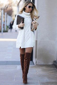 b5f351f150d Source  styleitwithtrix via Instagram Sweater Dresses