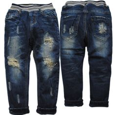 Check lastest price 3860 4-7 years  kids winter  boys jeans PANTS BOY trousers  KIDS hole jeans denim and fleece warm navy blue children just only $13.00 - 14.30 with free shipping worldwide  #boysclothing Plese click on picture to see our special price for you