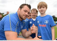Cian Healy at the Rugby Summer Camps..
