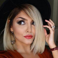 ❤️ Blonde Beauty, Hair Beauty, Eye Makeup, Hair Makeup, Hair 2018, Beautiful Lips, How To Make Hair, Bobs, Billionaire Life