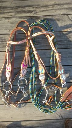 Boy & girl horse tack I really like these set's for my horse's:)