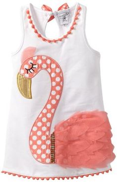 Mud Pie Baby Girls' Flamingo Cotton Dress, Multi, 12 18 M.my favorite bird! My Baby Girl, Baby Girl Newborn, Baby Girls, Toddler Fashion, Fashion Kids, Little Girl Dresses, Baby Dresses, Baby Sewing, Kids Outfits