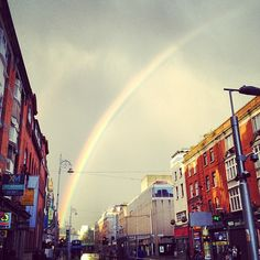 Incredible Rainbow in Dublin. Rainbow Sky, Over The Rainbow, Four Square, Times Square, Somewhere Over, Dares, Dublin, Ireland, Places To Visit