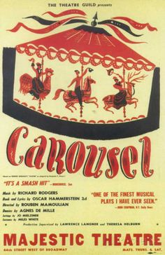 Carousel (Broadway) posters for sale online. Buy Carousel (Broadway) movie posters from Movie Poster Shop. We're your movie poster source for new releases and vintage movie posters. Broadway Plays, Broadway Theatre, Musical Theatre, Broadway Posters, Movie Posters, Theatre Posters, Oscar Hammerstein Ii, Play Poster, Richard Rodgers