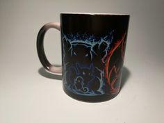 Pokemon Pocket Monsters Charmander Bulbasaur mugs heat changing color Ceramic Tea Cup mugs transforming black magic. Click visit to buy #Mug