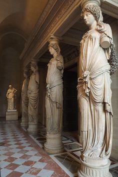 salle des cariatides, Musée du Louvre