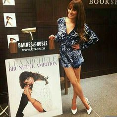 Lea Michele at her book signing