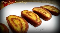 East meets west with this burfi fudge roll flavoured with sweet ripe mango pulp. As always this one is quite a simple affair with just 4 main ingredients. Notes-