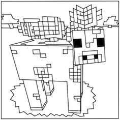 spiders from minecraft coloring page