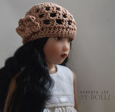 14in Kish doll cloche hat