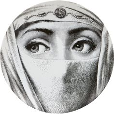 """Fornasetti """"Face Covered With White Turban"""" Plate at Barneys.com"""