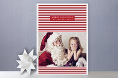 Merry Stripes Holiday Photo Card