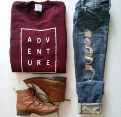 Cute adventure sweater, distressed jeans, and booties | You can find this at => http://feedproxy.google.com/~r/amazingoutfits/~3/Mf1qZPL6NYE/photo.php