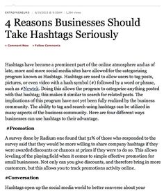 4 Reasons Businesses Should Take Hashtags Seriously