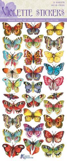 Violette Stickers C14- Tropical Butterflies