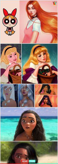 Artist Recreates Famous Cartoon Characters And The Results are Amazing - Art - Disney Disney Pixar, Disney Memes, Disney Animation, Disney And Dreamworks, Disney Kunst, Arte Disney, Disney Art, Disney Girls, Disney Love