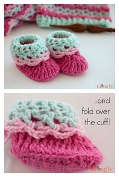 Loopy Love Newborn Baby Booties Free Crochet Pattern