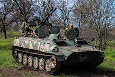 National Guard of Ukraine «Azov» regiment, MT-LB with ZU-23-2 anti-aircraft cannon #ukraine #military #army