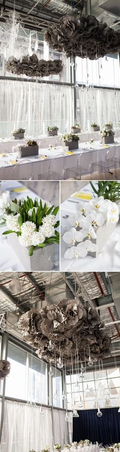 The chandeliers, the exposed light bulbs - all amazing | Planned by The Style Co