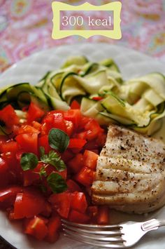 300 kcal fish and vegetable dinner, #calories, #kcal, #fish