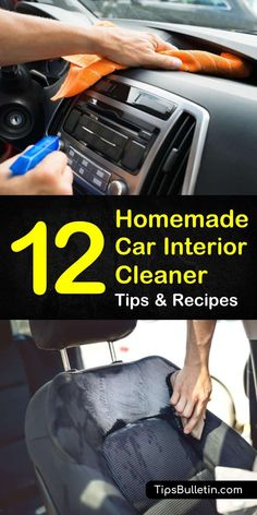 Homemade Car Interior Cleaner Recipes: 12 Tips for Cleaning. Homemade Car Interior Cleaner Recipes: 12 Tips For Cleaning Dashboard, Windows, and Seats Cleaning Car Windows, Diy Car Cleaning, Cleaning Car Upholstery, Diy Cleaning Products, Car Interior Cleaning, Diy Interior Car Cleaner, Diy Leather Upholstery Cleaner, Diy Leather Car Seat Cleaner, Cleaning Inside Of Car