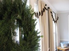 I love the idea of a pinecone garland