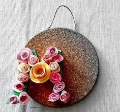 Flores para decorar letras de cartón | Manualidades