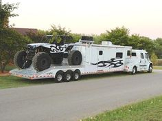 Toy hauler camper Rig ! This is CRAZY!! lol