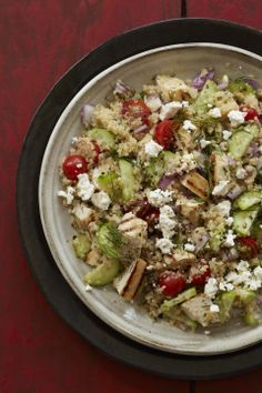 Greek Chicken-Quinoa Salad #myplate #salad