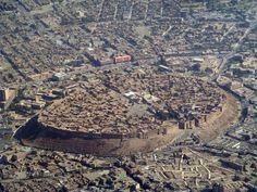 The ancient city wall still dominates the center of Erbil, located in Iraqi Kurdistan.