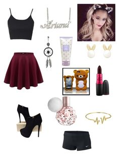 """Untitled #91"" by amber-blehm on Polyvore featuring Topshop, Giuseppe Zanotti, Lipsy, MAC Cosmetics and Bling Jewelry"